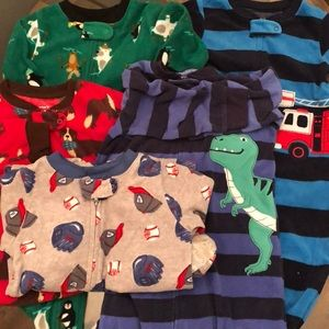 5 Carter's 12 Month Boy Fleece Sleepers